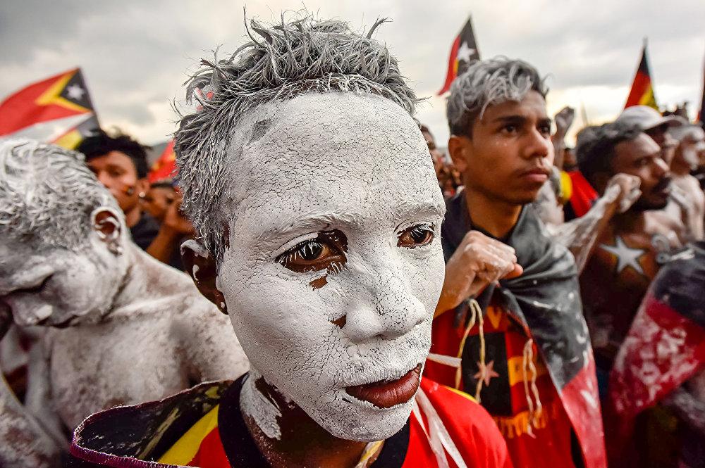 Митинг сторонников Революционного фронта за независимость Восточного Тимора в Дили