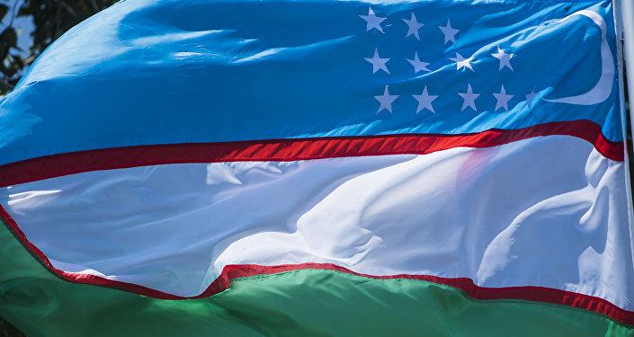 Флаг Узбекистана. Архивное фото