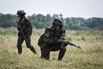 Военные РФ во время учений. Архивное фото