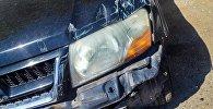 Пострадавший автомобиль в дтп на штрафстоянке в Бишкеке. Архивное фото