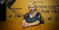 Психолог Людмила Семина-Гицу на радиостудии Sputnik Молдовы
