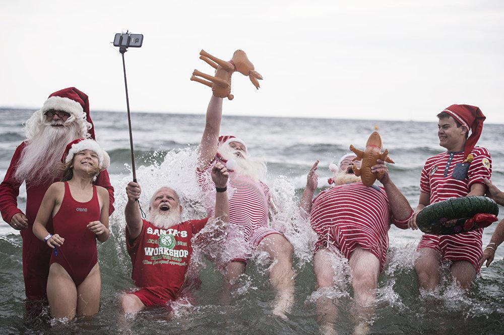 Всемирный конгресс Санта-Клаусов в Копенгагене