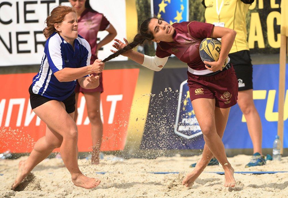 Пляжный регби. Чемпионат Европы. Первый день
