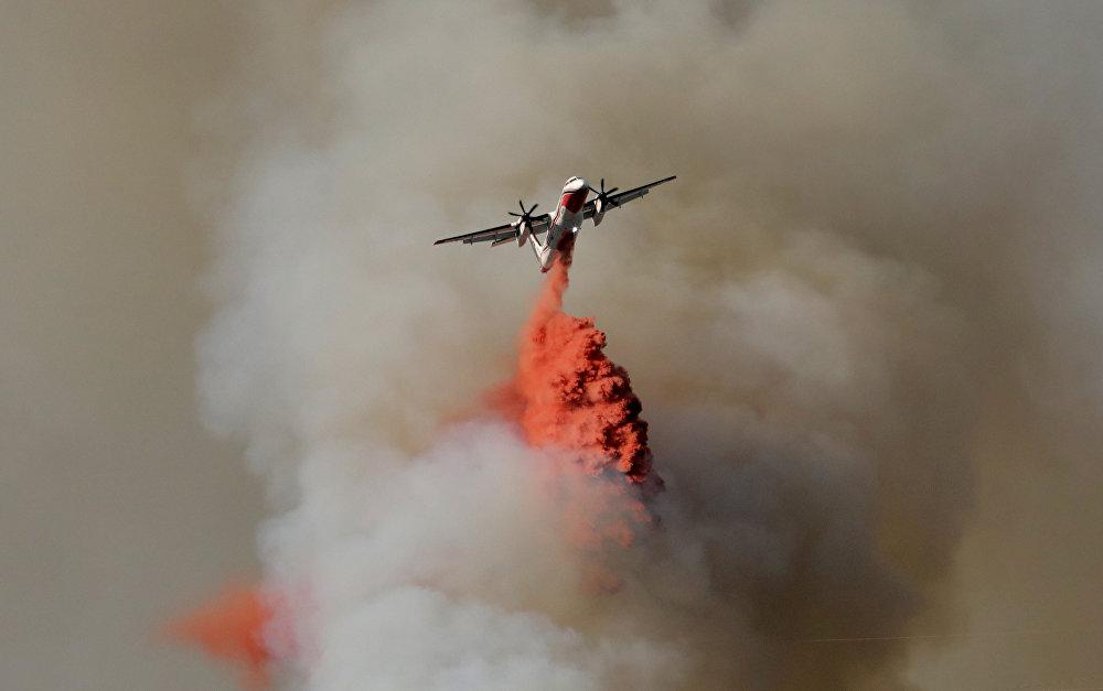Сильный пожар на юге Франции