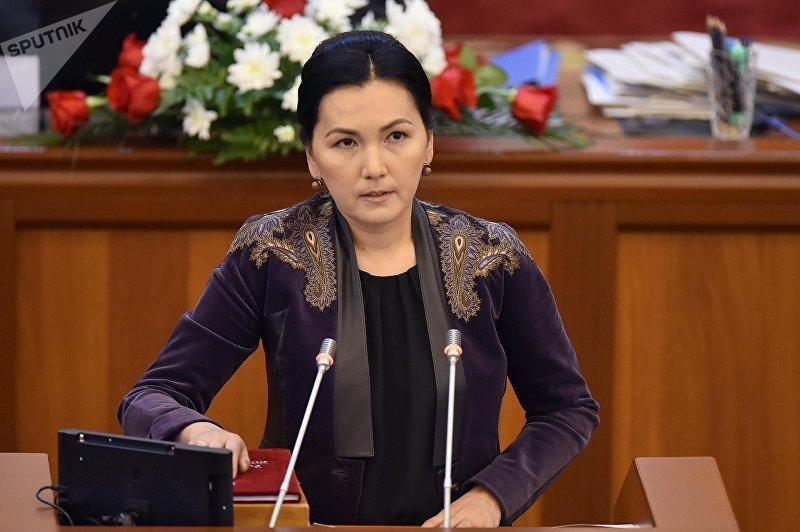 Депутат ЖК 6 созыва Аида Салянова от партии Ата-Мекен. Архивное фото