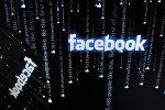 Логотип социальной сети Фейсбук на экране компьютера.