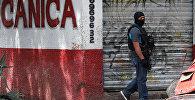 Мексиканын полиция кызматкери. Архив