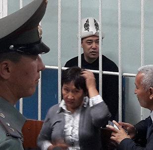 Абакта жаткан мурдагы депутат Садыр Жапаров. Архив