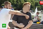 Мужчина ударил корреспондента НТВ в прямом эфире — видео