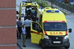 Автомобили скорой медицинской помощи у здания Московского областного суда. Архивное фото