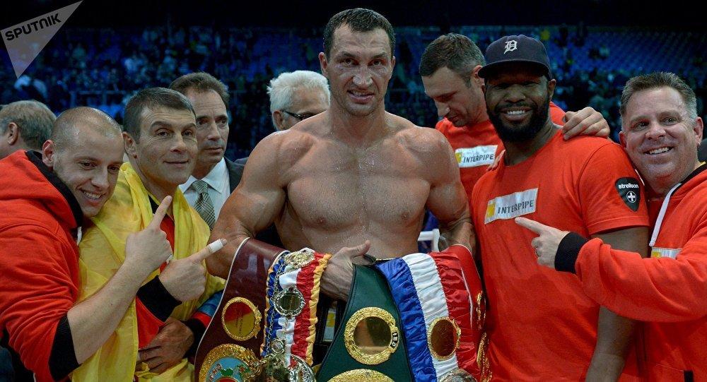 Архивное фото чемпиона мира в тяжелом весе по версиям IBF/IBO/WBA/WBO, украинец Владимира Кличко