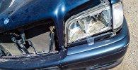 Пострадавший автомобиль в дтп на штрафстоянке в Бишкеке