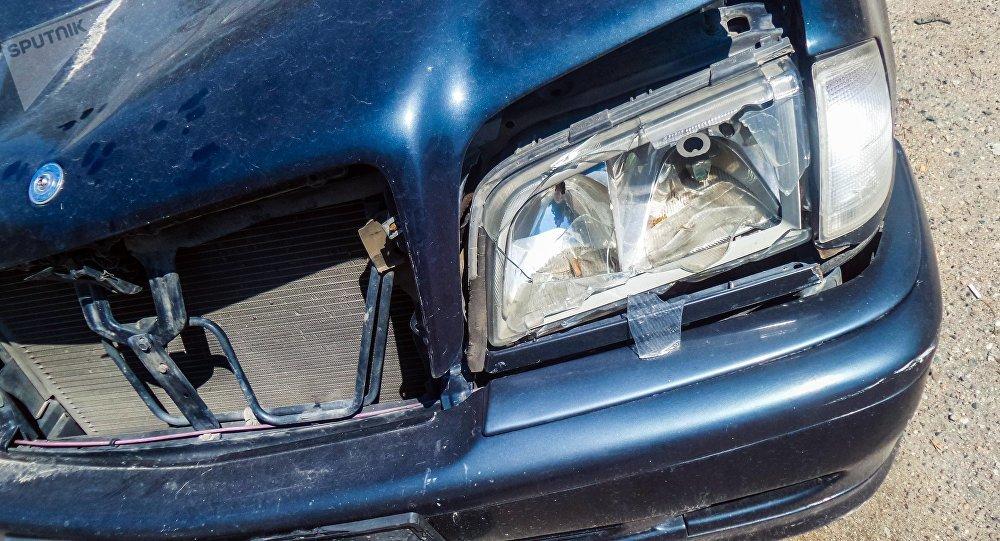 Пострадавший автомобиль в дтп на штрафстоянке. Архивное фото