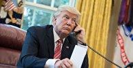АКШ президенти Дональд Трамптын телефон сүйлөшүүсү. Архивдик сүрөт