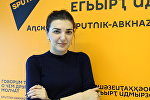 Врач-гепатолог Аэлита Шакая во время интервью на радио Sputnik Абхазия