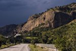 Дорога в Баткенской области. Архивное фото