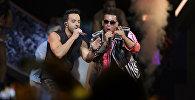 Ырчы Луис Фонси жана Daddy Yankee. Архивдик сүрөт