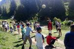 Открытия лагеря для детей в Нарыне