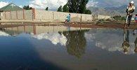 Затопление грунтовыми водами домов села Усубалиев Кочкорского района