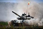 Эл аралык армия оюндарынын алкагында өтүп жаткан Танк биатлонунда кыргызстандык танкачылар
