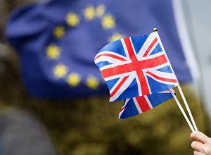 Противники выхода Великобритании из Европейского Союза (ЕС) на улице Лондона.