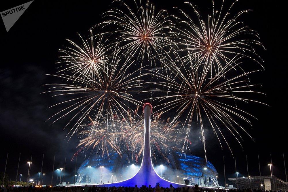 Сочинин Олимпиада паркындагы фейерверк