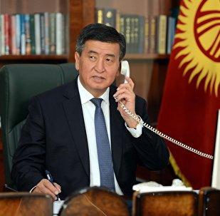 Архивное фото президента Кыргызской Республики Сооронбай Жээнбеков