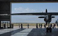 Территория авиабазы Кант. Архивное фото