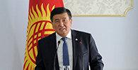 Премьер-министр КР Сооронбай Жээнбеков на торжественной встрече со спортсменами, показавшими лучшие результаты в 2017 году