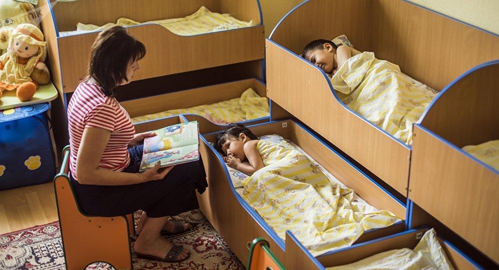 Бишкектеги бала бакчалар. Архивдик сүрөт