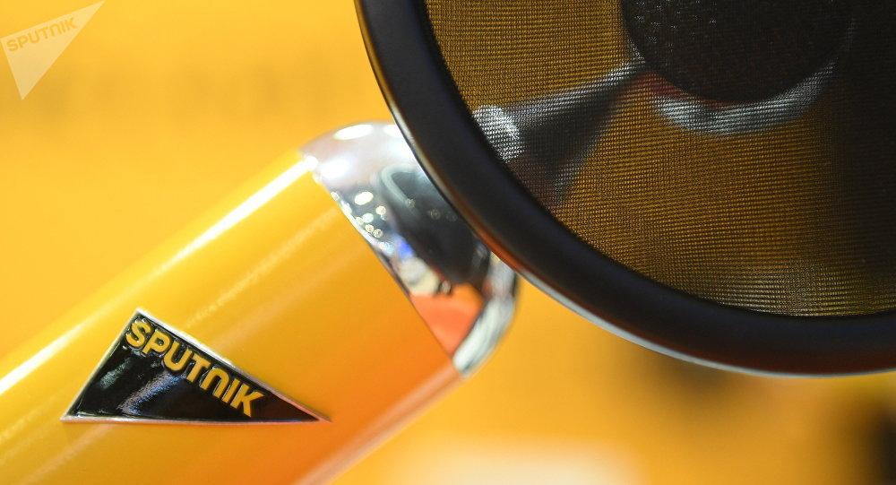 Микрофон в студии радио Sputnik. Архивное фото