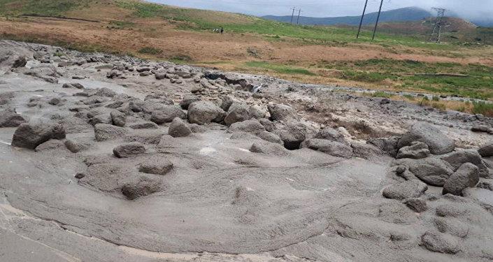 Последствия ливневых дождей в Ысык-Ате