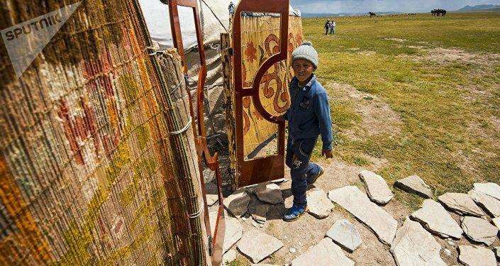 Юрты в одном из джайлоо Нарынской области. Архивное фото