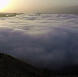 Дух захватывает! Море из облаков с высоты птичьего полета
