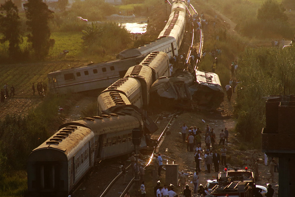 Столкновение поездов в пригороде Александрии