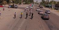 На велосипеде 500 км — слабовидящие едут из Алматы на Иссык-Куль