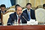 Премьер-министр Узбекистана Абдулла Арипов на заседании межправительственной комиссии по делимитации и демаркации кыргызско-узбекской государственной границы в Бишкеке