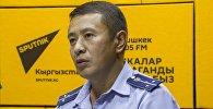 Мамлекеттик салык кызматынын кирешелер боюнча башкармалыгынын ага инспектору Өзөрбек Молдобаев Sputnik Кыргызстан радиосунда