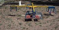Детская площадка в одном из территорий жилых домов в Иссык-Кульской области. Архивное фото