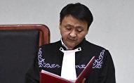 Судья Первомайского районного суда города Бишкек Айбек Эрнис уулу. Архивное фото