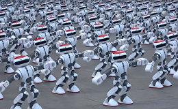 Тысяча роботов танцевали одновременно в Китае — новый рекорд