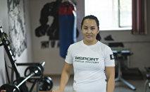 Мастер спорта по рукопашному бою и армрестлингу, трехкратная чемпионка КР Бегимжан Касымова