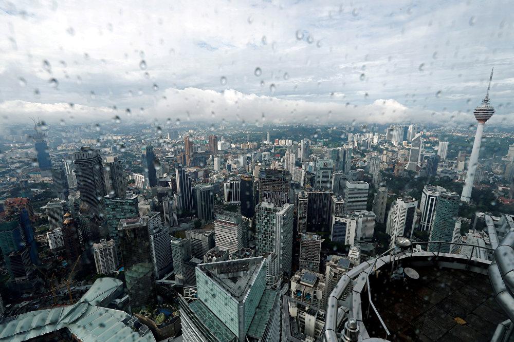 Малайзиянын Куала-Лумпур шаары жамгыр маалында