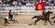 Игроки сборной Кыргызстана по кок-бору. Архивное фото