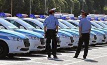 Полицейские дорожной службы Казахстана. Архивное фото