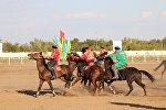 Ушу тапта Астананын Казанат стадионунда Кыргызстан менен Монголиянын көк бөрүчүлөрү күч сынашып жатат.