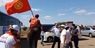 Астанада намыс талашып жаткан кыргыз улакчылары оюндан кийин. Видео