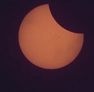 Кадры солнечного затмения в США