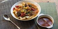 Секреты кыргызской кухни: за час одновременно готовим первое и второе