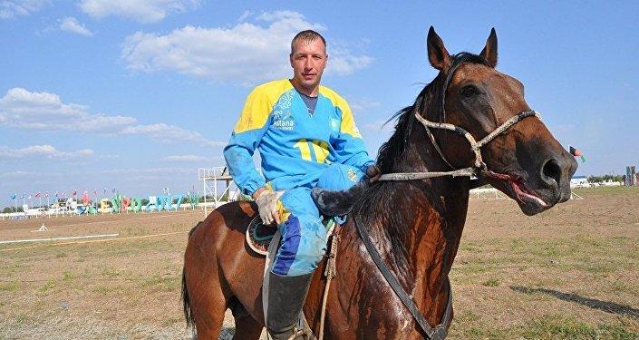 Чемпион Казахстана и Азии, казахстанский кокпарист Александр Пупенко
